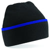 Beechfield Teamwear Beanie Black / Bright Royal