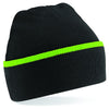 Beechfield Teamwear Beanie Black / Lime Green
