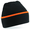 Beechfield Teamwear Beanie Black / Orange