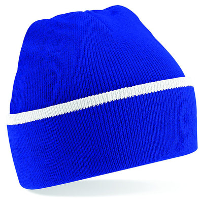 Beechfield Teamwear Beanie Bright Royal / White