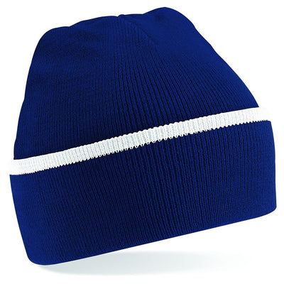 Beechfield Teamwear Beanie French Navy / White