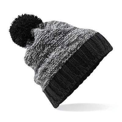 Beechfield Slalom Boarder Beanie Black / Graphite Grey / Light Grey