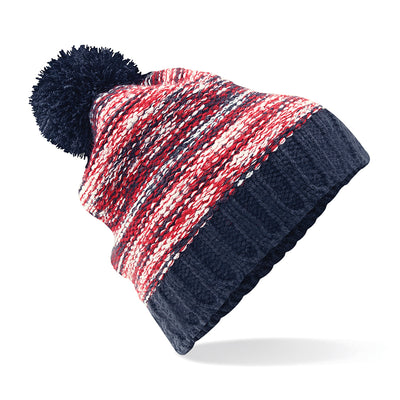 Beechfield Slalom Boarder Beanie Navy / Red / Off White