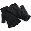 Beechfield Fingerless Gloves Black