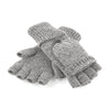 Beechfield Fliptop Gloves Heather Grey