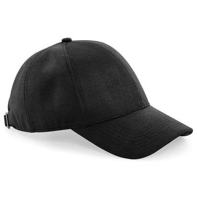 Beechfield Faux Suede 6 Panel Cap Black