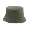 Beechfield Reversible Bucket Hat Olive Green / Stone