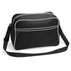 BagBase BG14 Retro Shoulder Bag Black / White