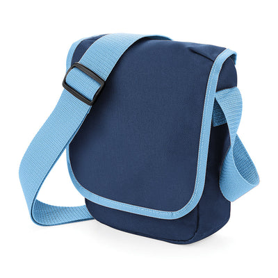 BagBase BG18 Mini Reporter French Navy / Sky Blue
