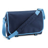 BagBase BG21 Messenger Bag French Navy / Sky Blue