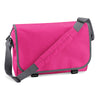 BagBase BG21 Messenger Bag Fuchsia / Graphite Grey
