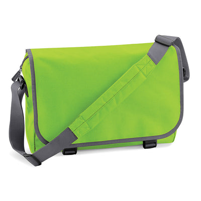 BagBase BG21 Messenger Bag Lime Green / Graphite Grey