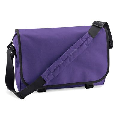 BagBase BG21 Messenger Bag Purple