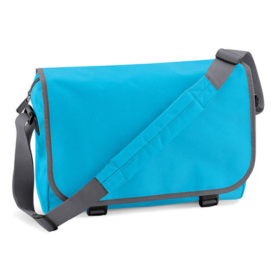 BagBase BG21 Messenger Bag Surf Blue / Graphite Grey