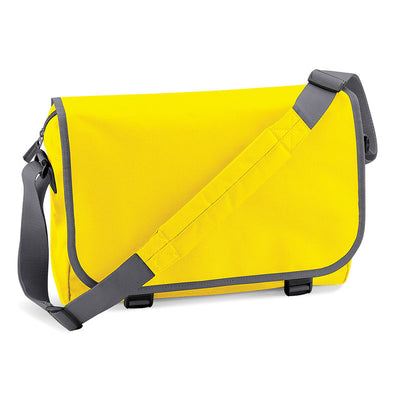 BagBase BG21 Messenger Bag Yellow / Graphite Grey