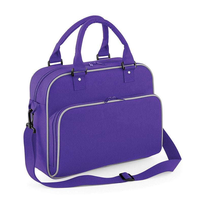 BagBase BG145 Junior Dance Bag Purple / Light Grey