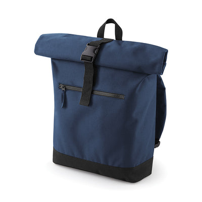 BagBase BG855 Roll-Top Backpack French Navy