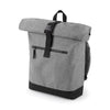 BagBase BG855 Roll-Top Backpack Grey Marl / Black