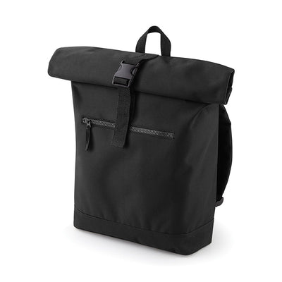 BagBase BG855 Roll-Top Backpack Black
