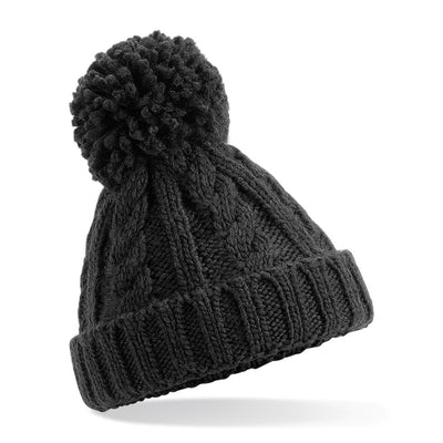 Beechfield Childrens Beanie Hat Black