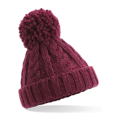 Beechfield Childrens Beanie Hat Burgundy