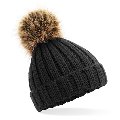 Beechfield Toddlers Beanie Hat  in Black