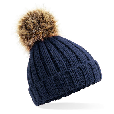 Beechfield Toddlers Beanie Hat in Navy