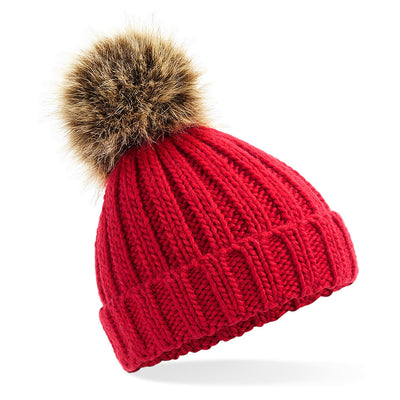 Beechfield Toddlers Beanie Hat in Red