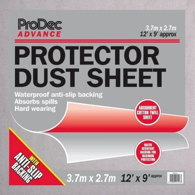 ProDec Advance 12' x 9' Anti-Slip Protector Dust Sheet