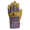 Delta Plus DC103 Cowhide/Cloth Docker Gloves