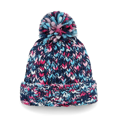 Beechfield Pom Pom Beanie Hat Detailed View B487