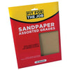 FFJ 10 Pack Of Sandpaper Sanding Sheets Assorted Grit