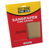 FFJ 10 Pack Of Sandpaper Sanding Sheets Fine Grade