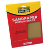 FFJ 10 Pack Of Sandpaper Sanding Sheets Medium Grade