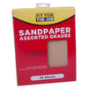 FFJ 25 Pack Of Sandpaper Sanding Sheets Assorted Grit