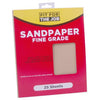 FFJ 25 Pack Of Sandpaper Sanding Sheets Fine Grit