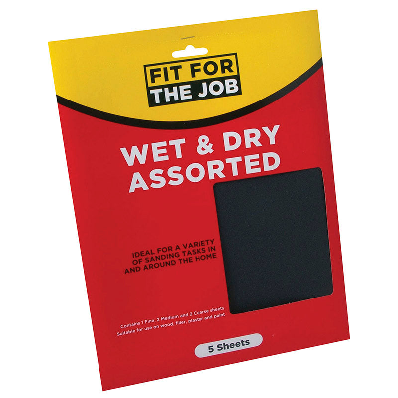FFJ Pack Of 5 Wet & Dry Assorted Sheets