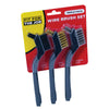 FFJ 3 Piece Soft Grip Mini Wire Brush Set