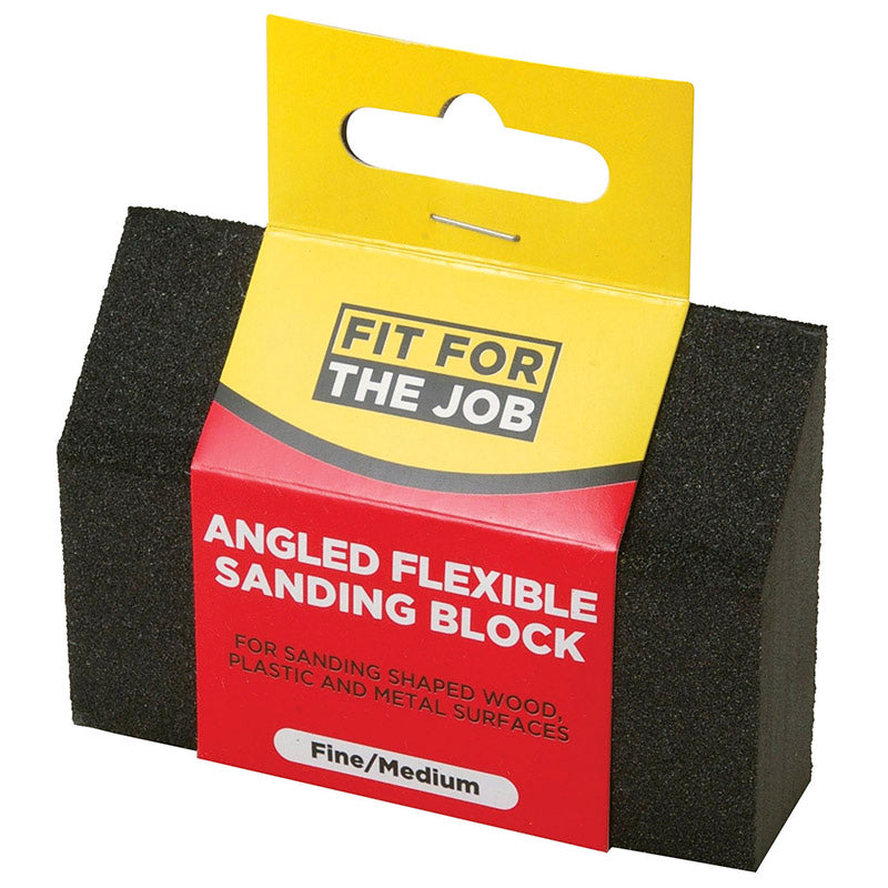 FFJ Fine / Medium Angled Flexible Sanding Block