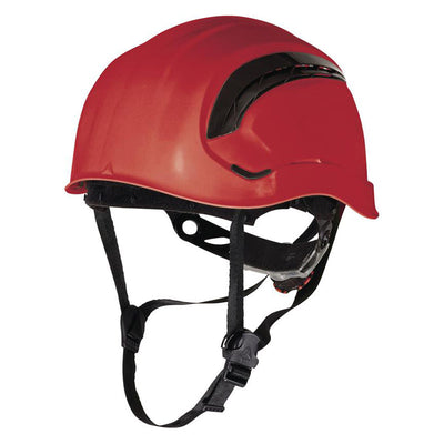 Delta Plus Granite Wind Vented Mountain Safety Helmet Red