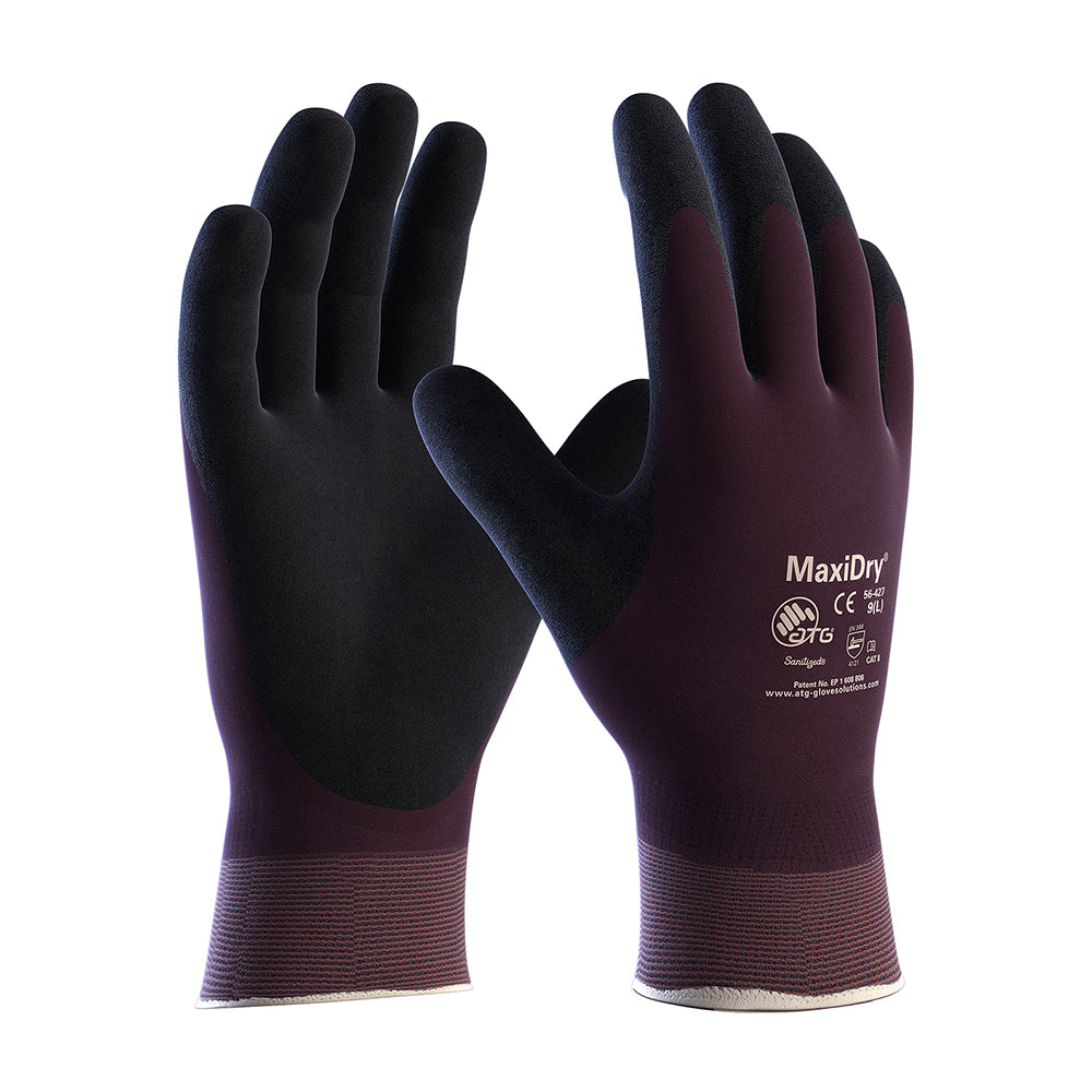 ATG MaxiDry 56-427 Nitrile Foam Fully Dipped Work Gloves