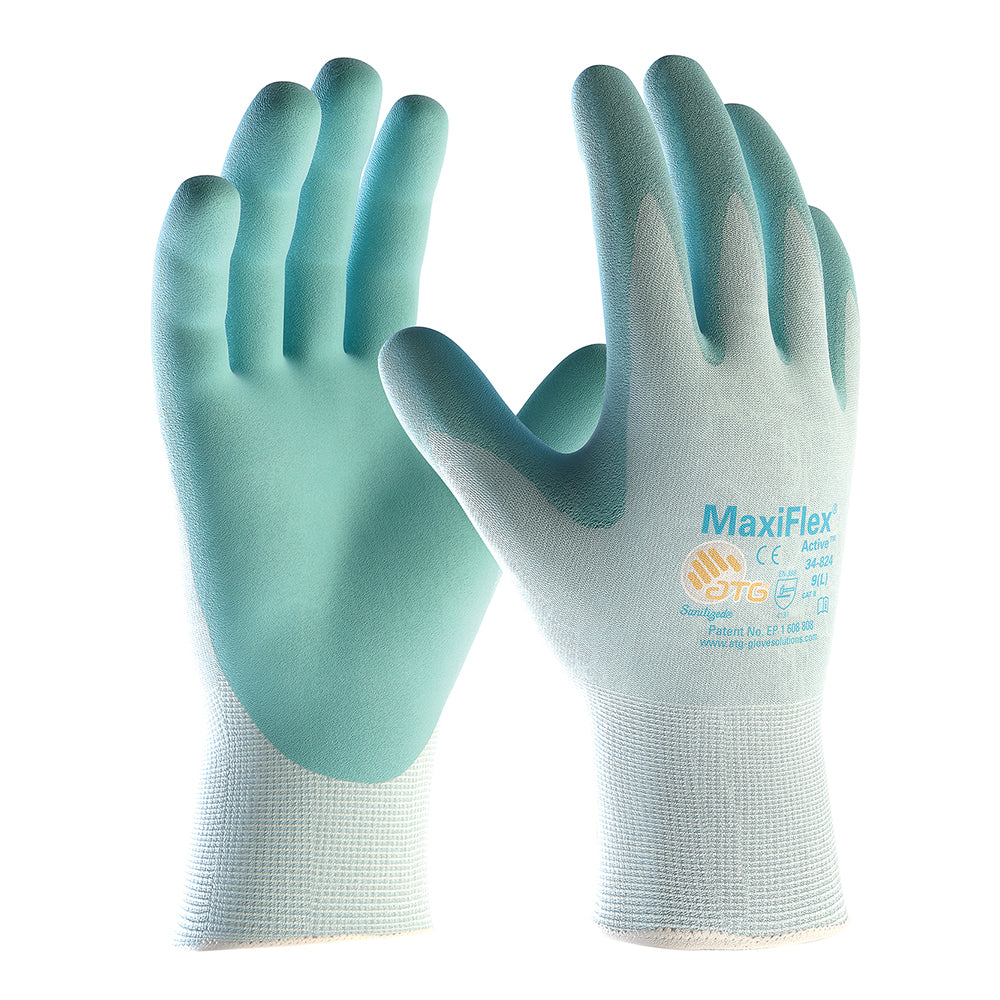 Grey ATG 42-874 Maxiflex Ultimate Work Gloves Thin Nitrile Foam Coated Small 7 Pack of 6 pairs