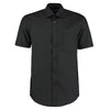 Kustom Kit KK102 Men's Short Sleeve Business Shirt Black