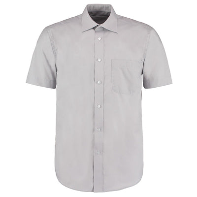 Kustom Kit KK102 Men's Short Sleeve Business Shirt Silver Grey