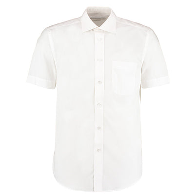 Kustom Kit KK102 Men's Short Sleeve Business Shirt White