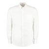 Kustom Kit KK113 Slim Fit Premium Oxford Shirt Long Sleeve White