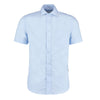 Kustom Kit KK115 Men's Premium Non-Iron Short Sleeve Shirt Light Blue