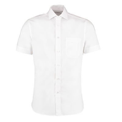 Kustom Kit KK115 Men's Premium Non-Iron Short Sleeve Shirt White