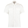 Kustom Kit KK133 Men's Short Sleeved Pilot Shirt White