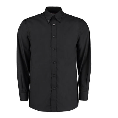 Kustom Kit KK140 Men's Workforce Long Sleeve Shirt Black